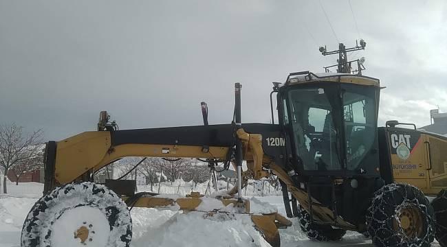 Malatya Büyükşehir'den,Kar Mesaisi Sürüyor