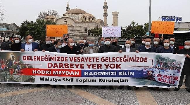 Malatya'da STK'lardan,Emekli Amirallere Tepki