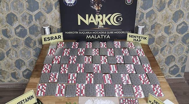 Malatya'da Uyuşturucu Operasyonu 17 Kişi Yakalandı