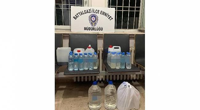 Malatya'da Kaçak İçki Operasyonu